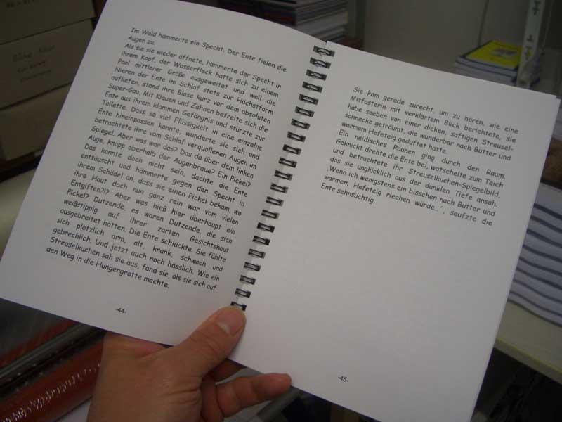 DIN A5 Ringbuch mit schwarzen 7mm Ringen